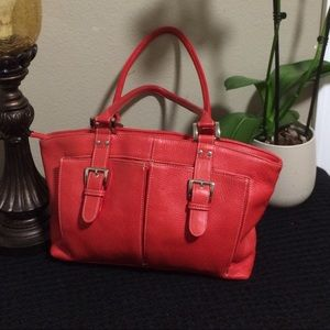 Tignanello red leather bag